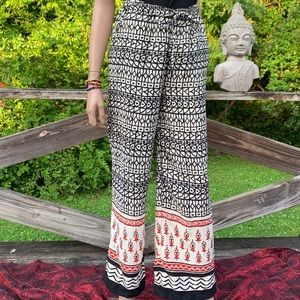 Japna Palazzo High Waisted Boho Wide Leg Pants